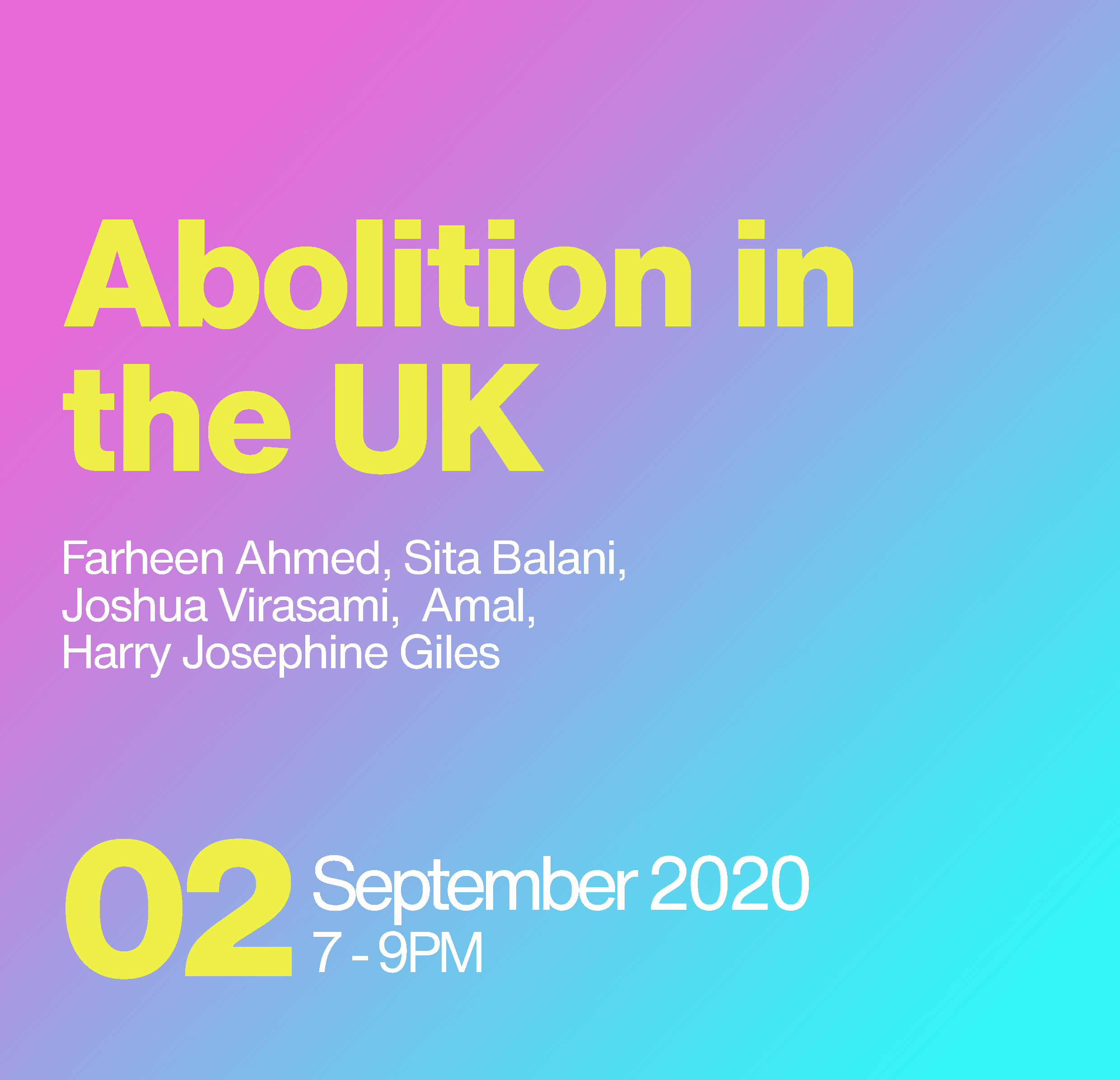 Abolition in the UK Event poster